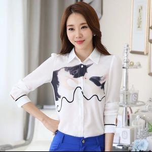 Tops - Floral print blouse